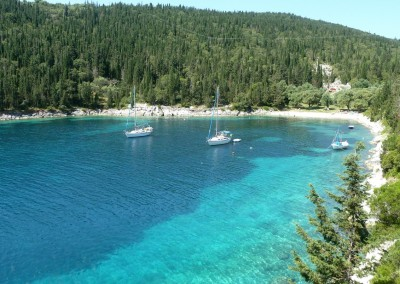 Kefalonia fiscardo village beach